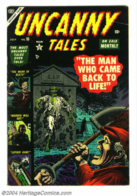 Uncanny Tales #10 (Atlas, 1953) Condition: VF-. Russ Heath cover. Overstreet 2004 VF 8.0 value = $230