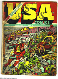 USA Comics #2 (Timely, 1941) Condition: GD-. Hitler cover. Origin of Captain Terror. Basil Wolverton and Mike Sekowsky a...