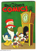 Golden Age (1938-1955):Funny Animal, Walt Disney's Comics and Stories #28 (Dell, 1943) Condition: VG.Pencil scribbles on cover. Overstreet 2004 VG 4.0 value = $...