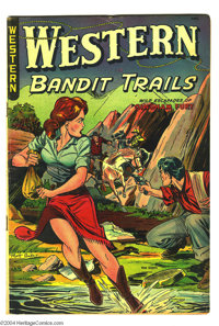 Western Bandit Trails #3 (St. John, 1949) Condition: VG/FN. Matt Baker cover. Baker and George Tuska art. Overstreet 200...