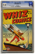 Golden Age (1938-1955):Superhero, Whiz Comics #10 (Fawcett, 1940) CGC FN/VF 7.0 White pages. C. C. Beck cover. Beck, Pete Costanza, and Mac Raboy art. Overstr...