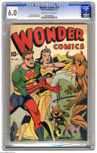 Wonder Comics #10 (Better Publications, 1947) CGC FN 6.0 Off-white to white pages. Alex Schomburg cover. Al Camy and Al...