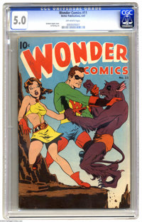 Wonder Comics #11 (Better Publications, 1947) CGC VG/FN 5.0 Off-white pages. Graham Ingels cover. Al Hartley art. Overst...