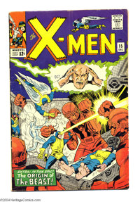X-Men #15 (Marvel, 1965) Condition: VG. Origin of the Beast. Jack Kirby and Dick Ayers cover art. Werner Roth, Kirby, an...