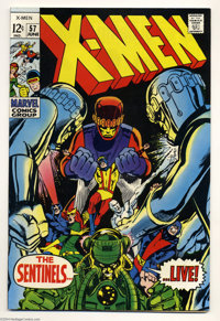 X-Men #57 (Marvel, 1969) Condition: VF-. Neal Adams cover and art. Overstreet 2004 VF 8.0 value = $65