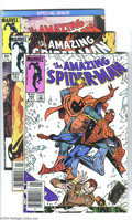 Modern Age (1980-Present):Superhero, The Amazing Spider-Man #260-418 Group (Marvel, 1985-96) Condition:Average VF/NM. Here's a run that covers most of the Hobgo...(Total: 156 Comic Books Item)