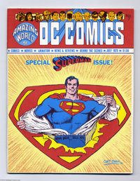 Amazing World of DC Comics #7 (DC, 1975) Condition: FN/VF. Superman issue. Curt Swan cover. Overstreet 2004 FN 6.0 value...
