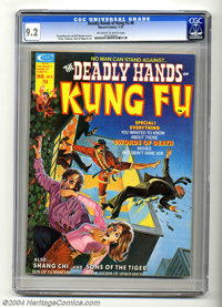 The Deadly Hands of Kung Fu #8 (Marvel, 1975) CGC NM- 9.2 Off-white to white pages. Doug Moench and Bill Mantlo stories...
