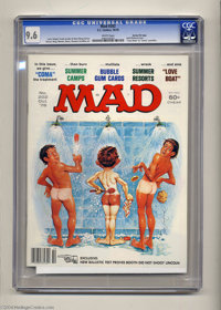"""Mad #202 Gaines File pedigree (EC, 1978) CGC NM+ 9.6 White pages. """"Love Boat"""" and """"Coma"""" parodies. J..."""