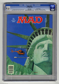 "Mad #252 Gaines File pedigree (EC, 1985) CGC NM+ 9.6 White pages. ""Family Ties"" TV parody. Armanli cover. Larr..."