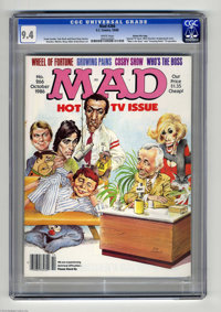 "Mad #266 Gaines File pedigree (EC, 1986) CGC NM 9.4 White pages. Special TV issue. ""Who's the Boss"" and ""..."