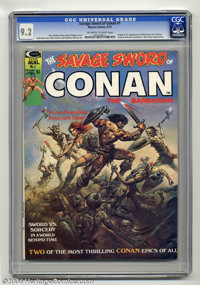 Savage Sword of Conan #1 (Marvel, 1974) CGC NM- 9.2 Off-white to white pages. Boris Vallejo cover. John Buscema, Neal Ad...