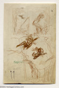 Original Comic Art:Sketches, Frank Frazetta - Tarzan Thumbnail Designs Original Art (undated). Frazetta works out compositions for a more finished Tarzan...