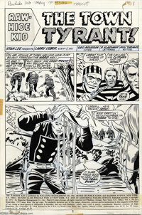 Larry Lieber and George Roussos - Original Art for Rawhide Kid #103, Group of 9 pages (Marvel, 1972). Pages written and...
