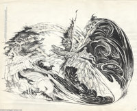 Tom Sutton -The Dream Quest of Unknown Kadath, Plate Six Original Art (Another World Ltd., 1978). Tom Sutton excelled at...
