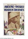 Movie Posters:Adventure, Around the World with Burton Holmes (MGM, 1922)....