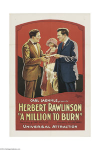 A Million to Burn (Universal, 1923).... (9 pieces)