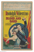 Movie Posters:Drama, Blood and Sand (Famous Players Lasky, 1922)....