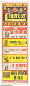 Movie Posters:Comedy, Charlie Chaplin- Karno Touring Poster (Fred Karno, 1910)....