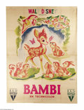 Movie Posters:Animated, Bambi (RKO, 1946)....