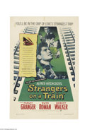 Movie Posters:Mystery, Strangers on a Train (Warner Brothers, 1951)....