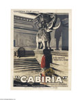 Movie Posters:Adventure, Cabiria (Italia Film, 1914)....