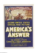 Movie Posters:War, America's Answer (U.S. Army, 1918)....