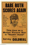 Movie Posters:Sports, Headin' Home (Kessell & Baumann, 1920)....