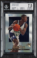 Basketball Cards:Singles (1980-Now), 1996 Skybox E-X2000 Credentials Ray Allen #37 BGS NM+ 7.5 - Serial Numbered 127/499. ...