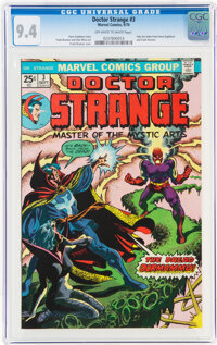 Doctor Strange #3 (Marvel, 1974) CGC NM 9.4 Off-white to white pages