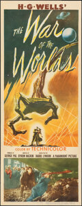 """Movie Posters:Science Fiction, The War of the Worlds (Paramount, 1953). Good/Very Good on Paper. Trimmed Insert (14"""" X 35.5""""). Science Fiction.. ..."""