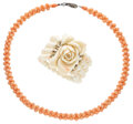 Estate Jewelry:Lots, Coral, Gold, Silver Jewelry. ... (Total: 2 Items)