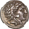 Ancients:Greek, Ancients: SICILY. Siculo-Punic. Ca. 300-289 BC. AR tetradrachm (26mm, 16.94 gm, 6h). NGC AU★ 5/5 - 5/5, Fine Style....