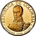 "Colombia, Colombia: Republic gold Proof ""Battle of Boyaca"" 500 Pesos 1969-NI PR65 Ultra Cameo NGC,..."