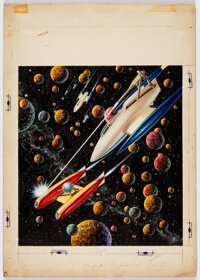 Malcolm Smith Imagination Science Fiction Cover Original Art (Greenleaf Publishing, 1956)