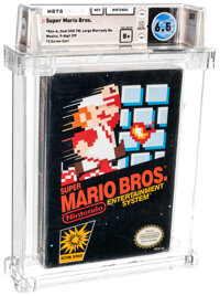 Super Mario Bros. - Wata 6.5 B+ Sealed [Oval SOQ TM, Later Production], NES Nintendo 1985 USA