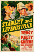 """Movie Posters:Adventure, Stanley and Livingstone (20th Century Fox, 1939). Folded, Fine/Very Fine. One Sheet (27"""" X 41"""") Style A.. ..."""