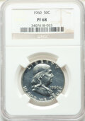 Proof Franklin Half Dollars, Four Piece Proof Franklin Half Dollar Set PR68 NGC. This set includes the dates: 1960; 1961; 1962; and a 1963.. ... (Total: 4 coins)