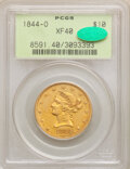 Liberty Eagles, 1844-O $10 XF40 PCGS. CAC. PCGS Population: (36/168). NGC Census: (30/307). CDN: $1,150 Whsle. Bid for NGC/PCGS XF40. Minta...