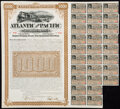 Miscellaneous:Other, Atlantic and Pacific Railroad Co. Gold Bond Certificate $1000 Sep. 1, 1887 Very Fine.. ...