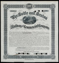 Bodie and Benton Railway and Commerical Company Bond Certificate $1,000 Nov. 11, 1886 About Uncirculated