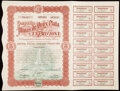 Seven Stocks and Bond Certificates from Mexico and England. Very Fine or Better. ... (Total: 7 items)