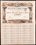 A Group of Six Cuba and Mexico Stocks and Bond Certificates Very Fine or Better. ... (Total: 6 items)