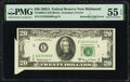 Error Notes:Foldovers, Butterfly Fold Error Fr. 2066-E $20 1963A Federal Reserve Note. PMG About Uncirculated 55 EPQ.. ...