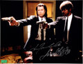 Movie/TV Memorabilia:Autographs and Signed Items, Samuel Jackson/John Travolta Signed Pulp Fiction Promo Photo Print. ...