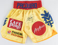 Boxing Collectibles:Autographs, Manny Pacquiao Signed Trunks....
