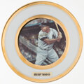 Autographs:Others, 1986 Mickey Mantle Commemorative Plate. ...