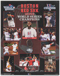Baseball Collectibles:Others, Xander Bogaerts Signed 2013 World Series Collage....