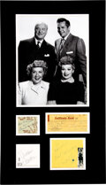 Movie/TV Memorabilia:Autographs and Signed Items, I Love Lucy Multi-Signature Collection in Matte....