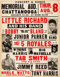 Little Richard 1957 Rock 'N' Roll / R&B Concert Poster w/10 Hit Acts on the Bill
